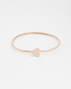 heart bangle rose gold finish
