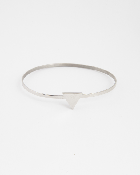 TRIANGLE BANGLE / RHODIUM FINISH