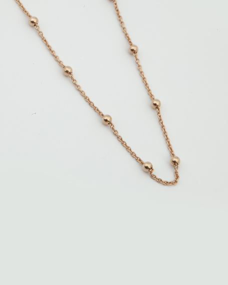 300 ROSARY NECKLACE / ROSE GOLD FINISH