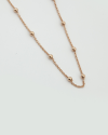 300 rosary necklace rose gold finish