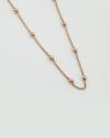 collana rosario 300 galvanica oro rosa lucido