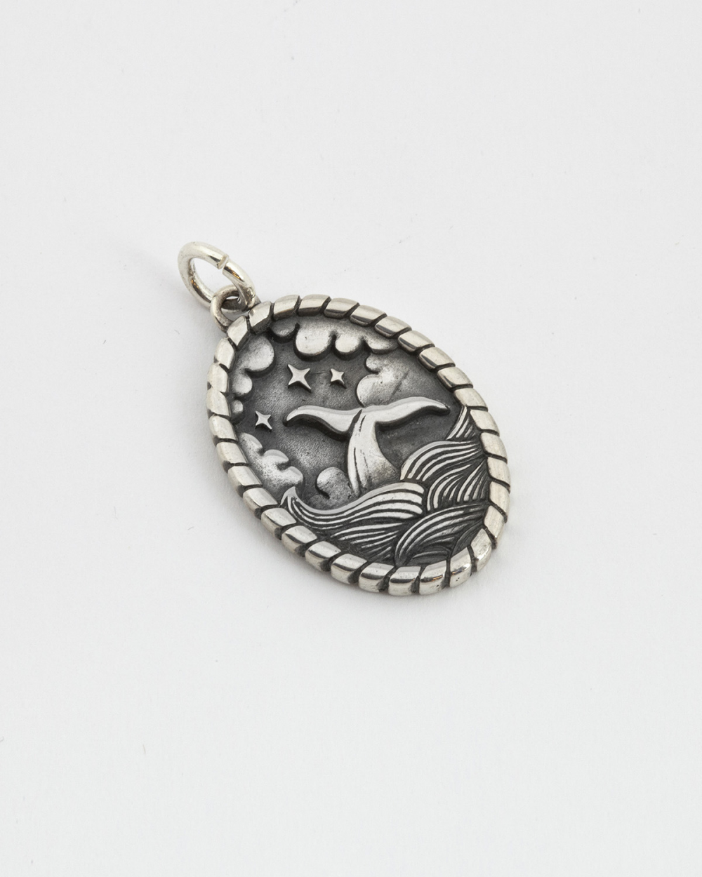 WHALE AND WAVES PENDANT