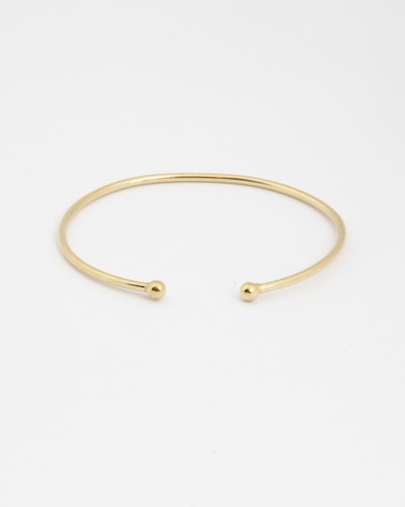 SMALL SPHERES PIERCING BRACELET / YELLOW GOLD FINISH