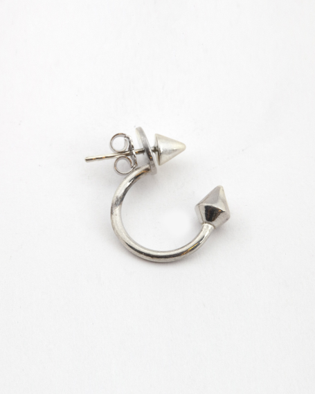 ARCS & CONES PIERCING PAIR EARRINGS / POLISHED FINISH