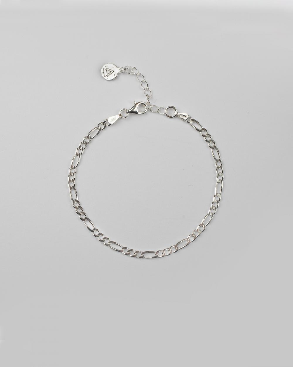 Bracelets SILVER 3+1 CURB CHAIN BRACELET NOVE25