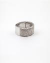 10mm cubic zirconia half band ring rhodium finish