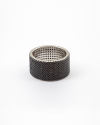 fascia con zirconia cubica nera 10mm galvanica rodio lucido
