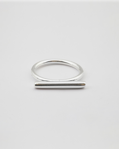 SILVER BAR RING / POLISHED FINISH
