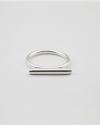 silver bar ring polished finish