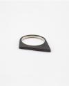 anello asimmetrico argento brunito