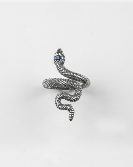 SNAKE RING WITH BLU SPINEL