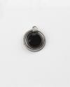black agate uroboro pendant