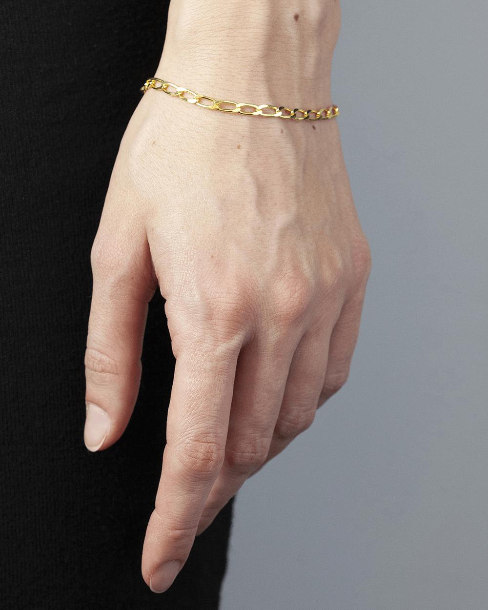 Bracelets YELLOW GOLD LONG CURB CHAIN BRACELET NOVE25