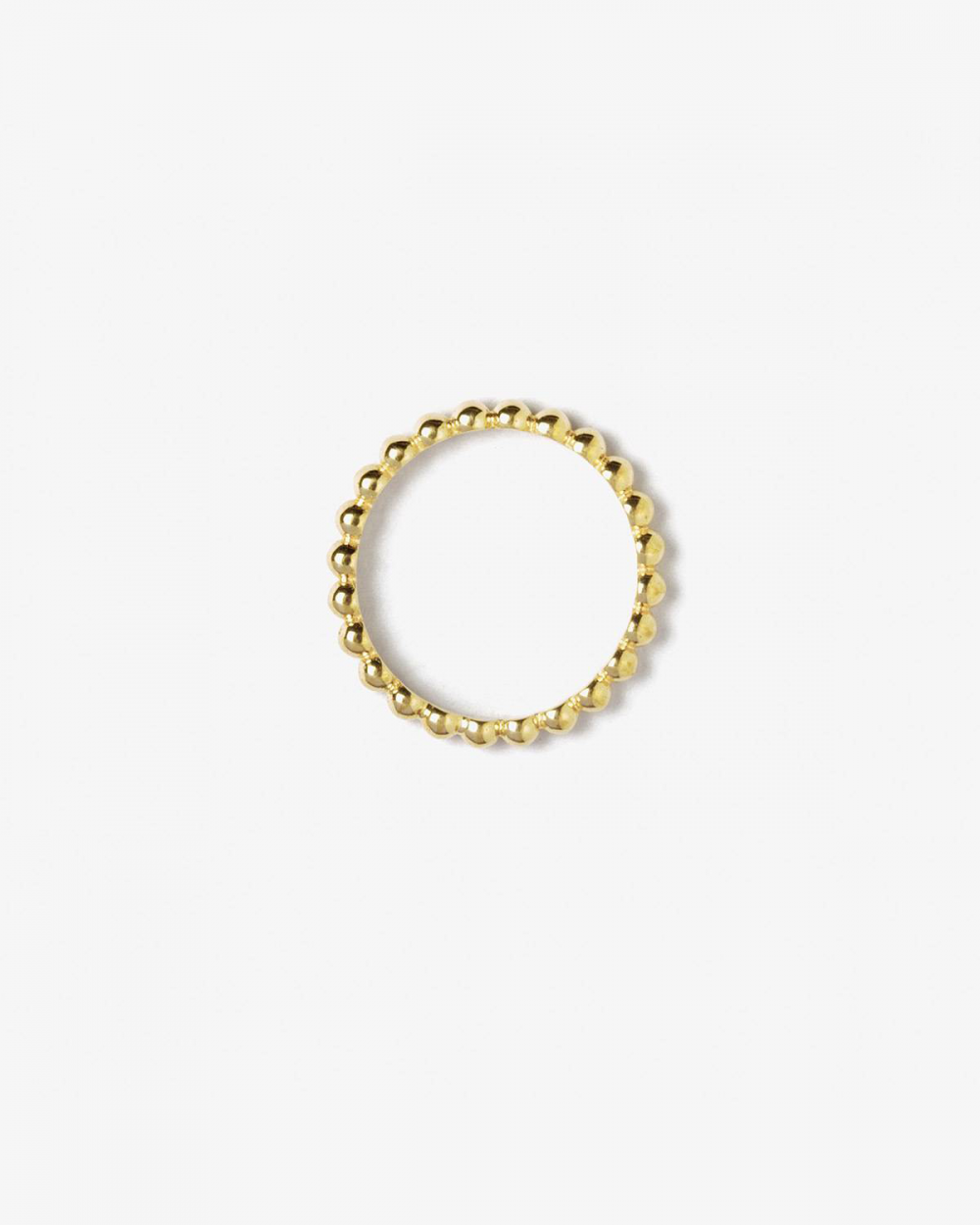YELLOW GOLD BUBBLES FINE RING