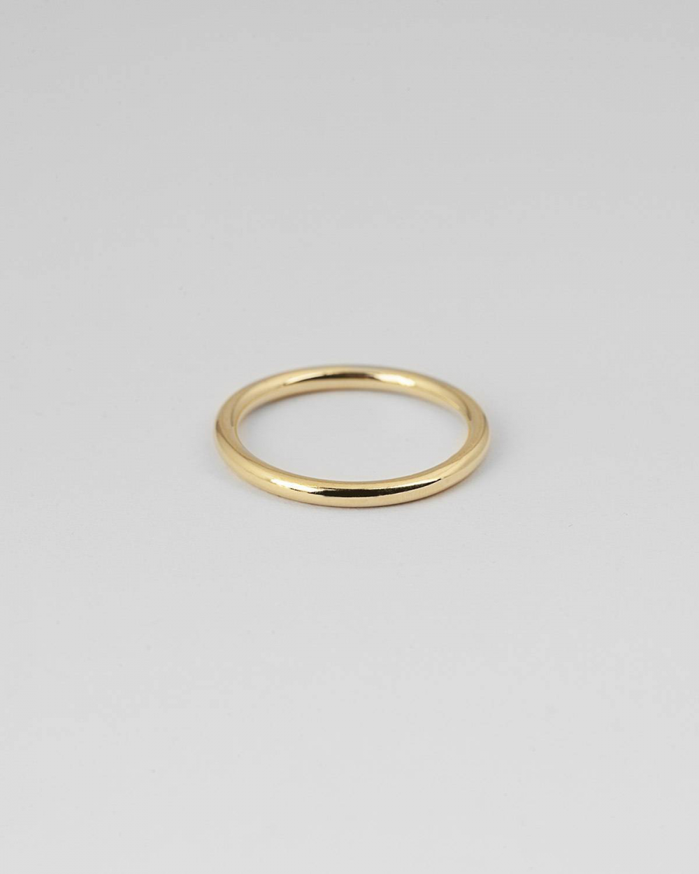 YELLOW GOLD BIG ROUND GUARD RING