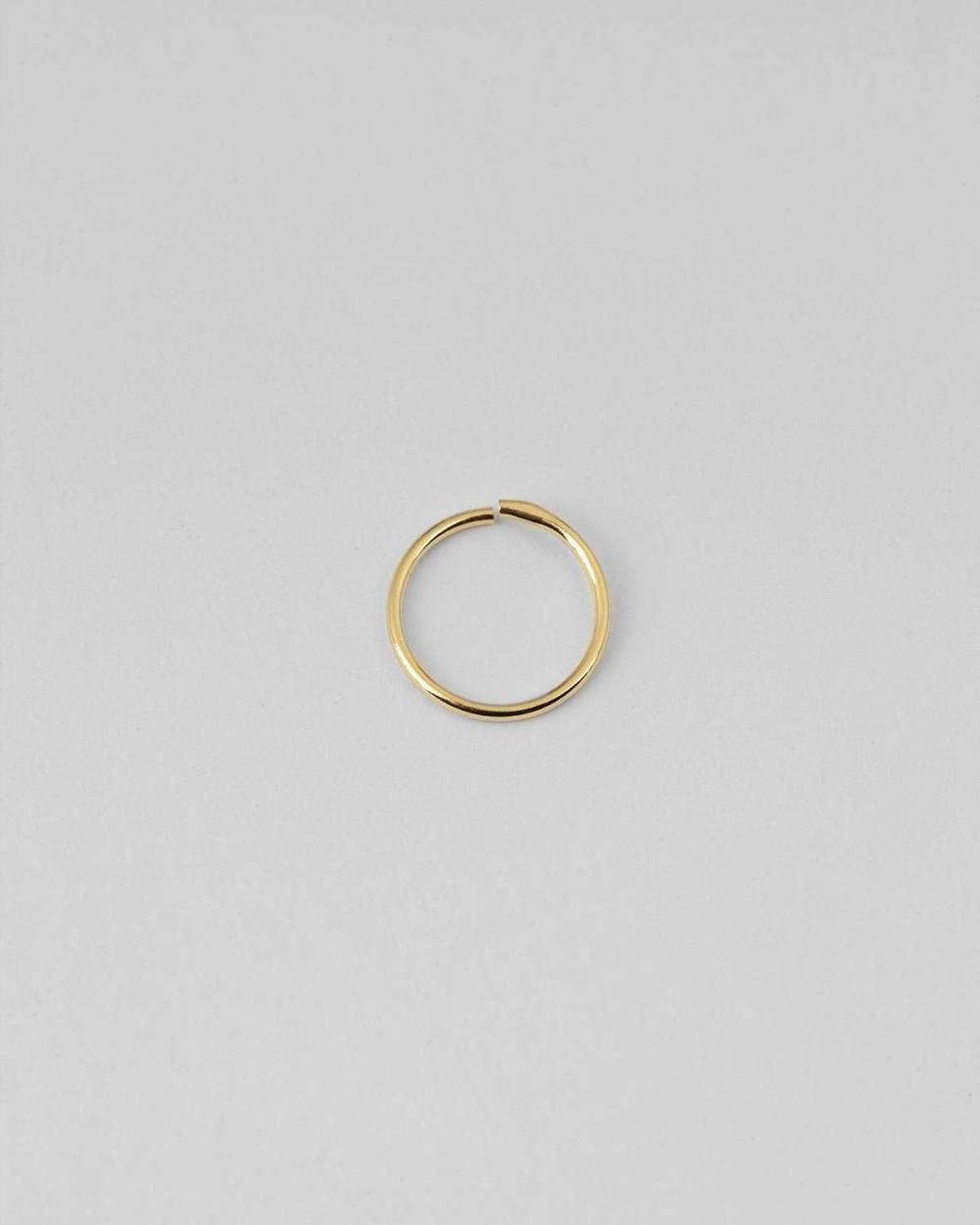 Earrings YELLOW GOLD MINI SINGLE HOOP EARRING 012 D12 NOVE25