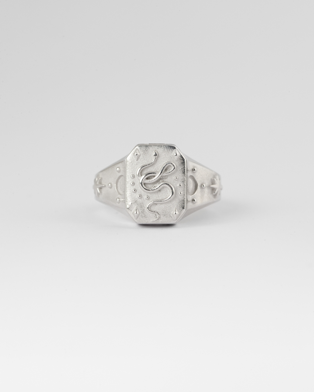 silver the fool signet ring