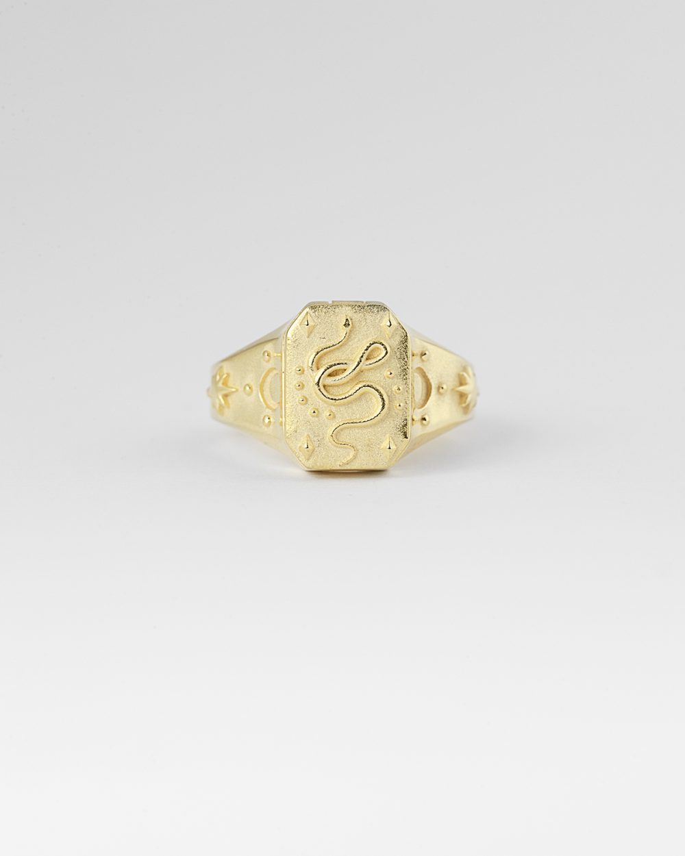yellow gold the fool signet ring