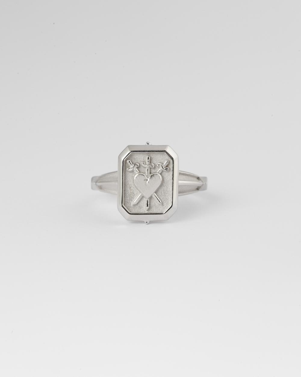 anello tre di spade argento
