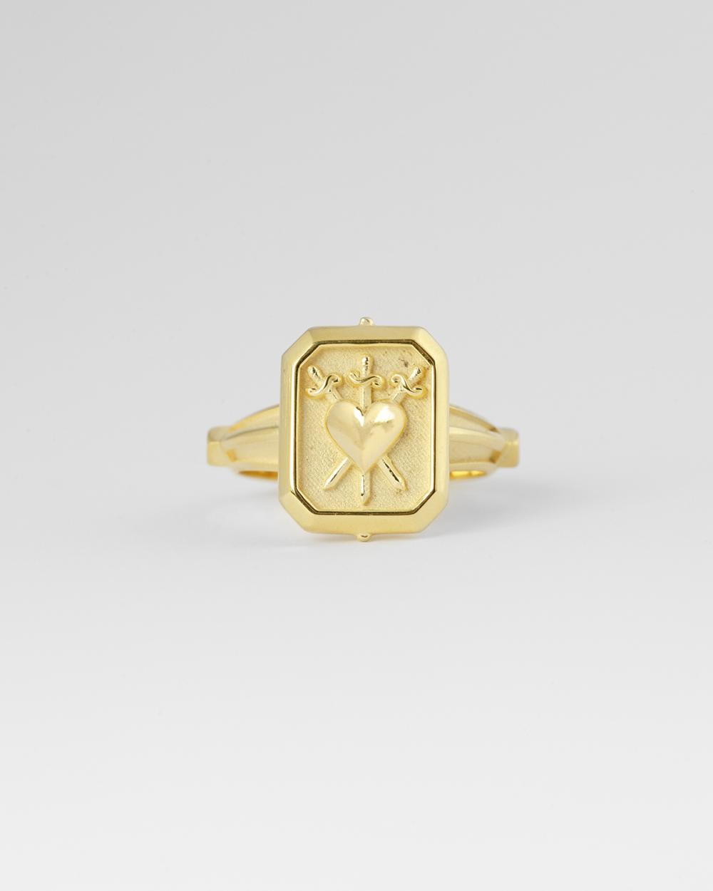 anello tre di spade oro giallo