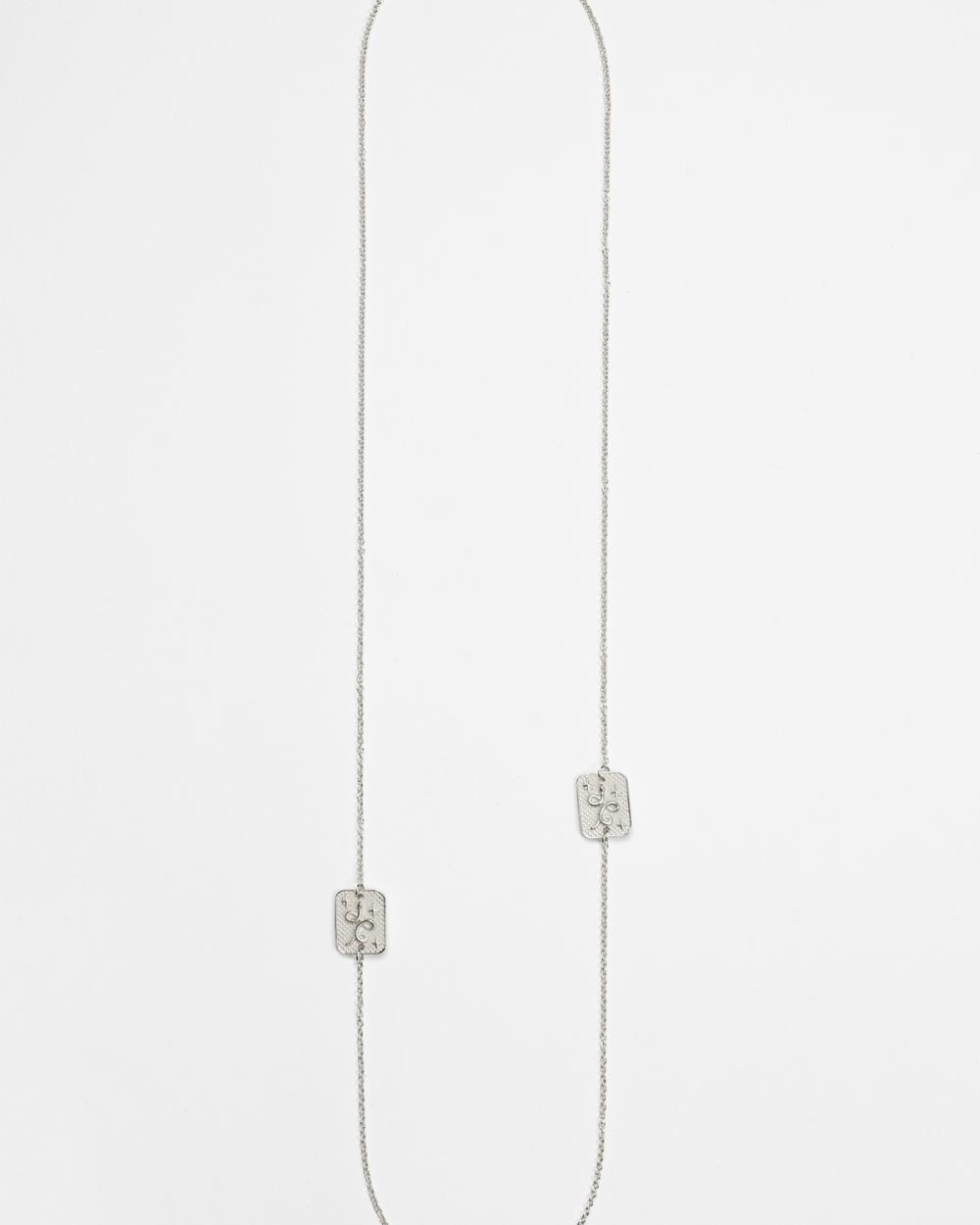 silver scapular necklace tarot