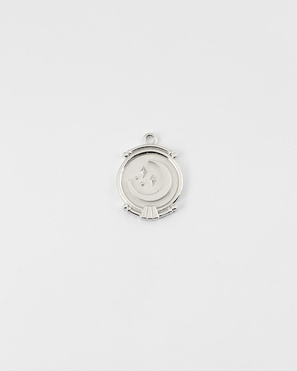 silver the moon pendant