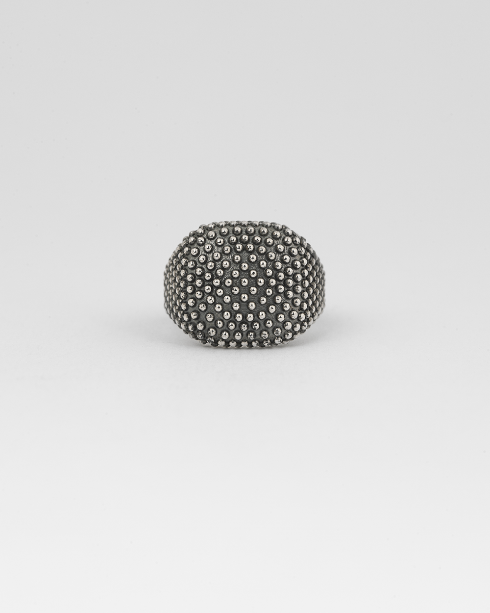dotted square signet ring