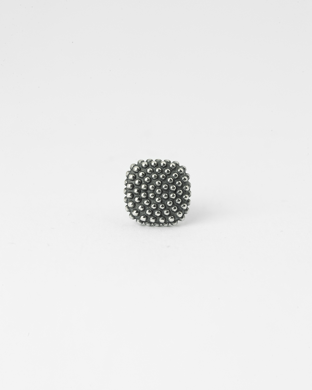 dotted square single earring