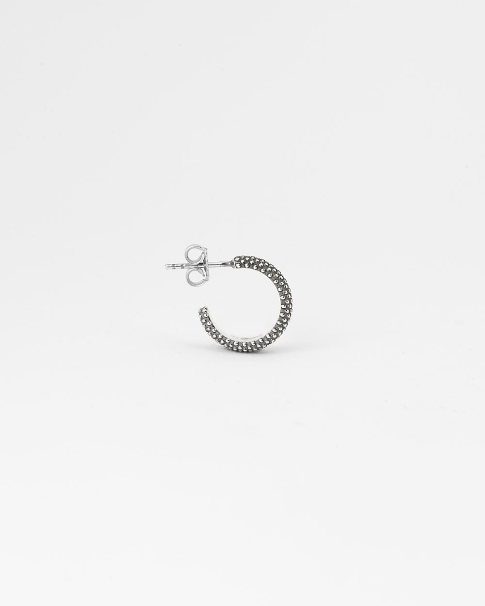 dotted small hoop single earring
