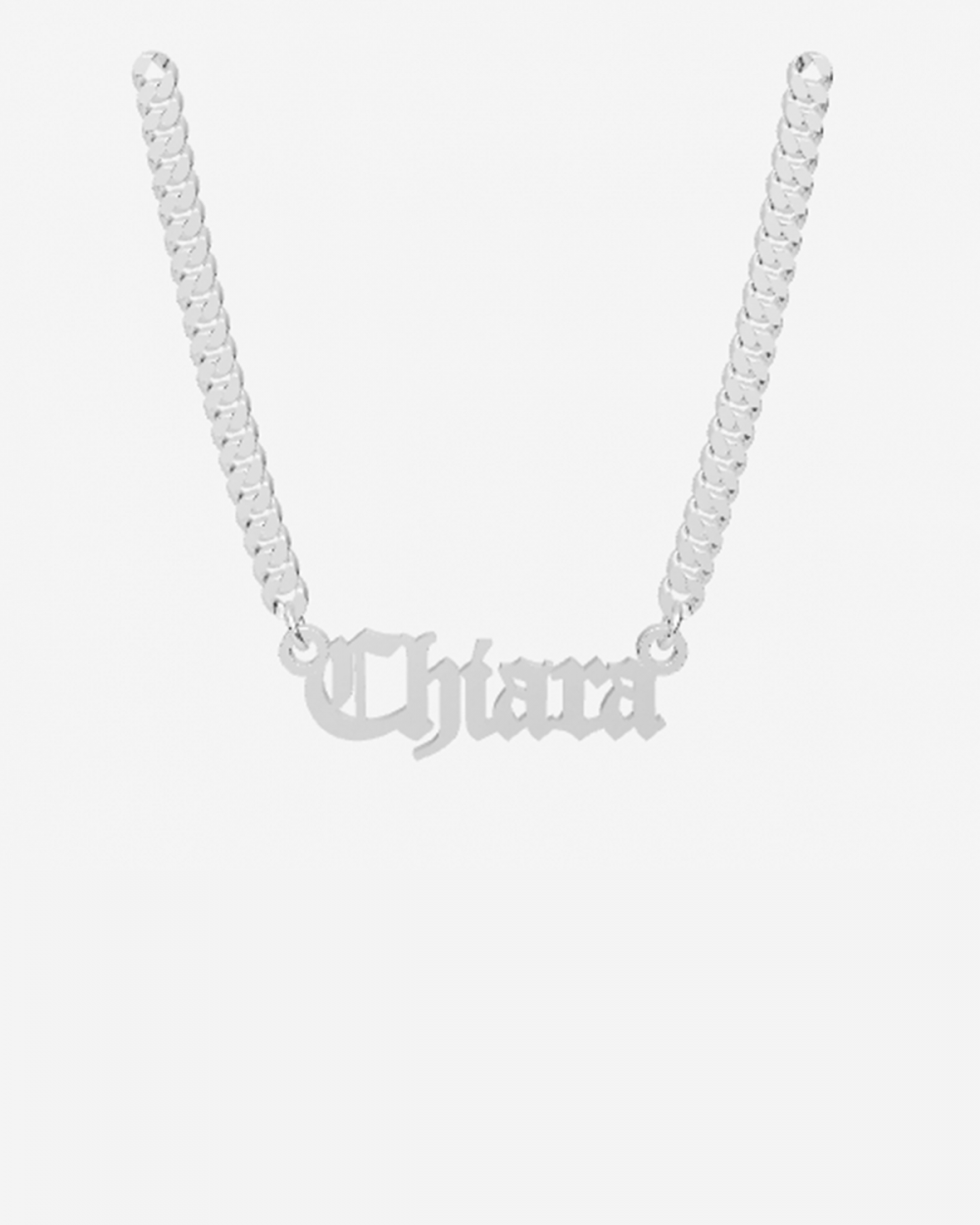 name curb chain necklace