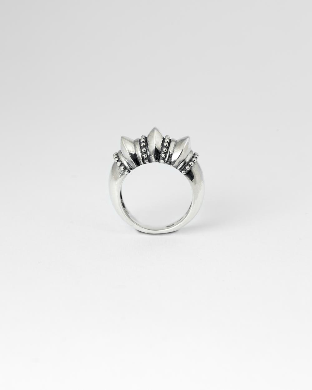 embossed ethnic fine ring