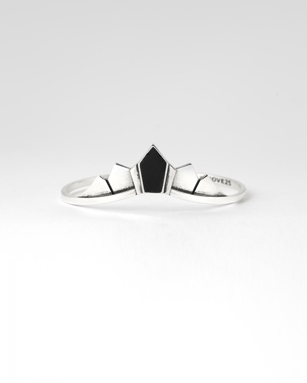 black enamelled bracelet