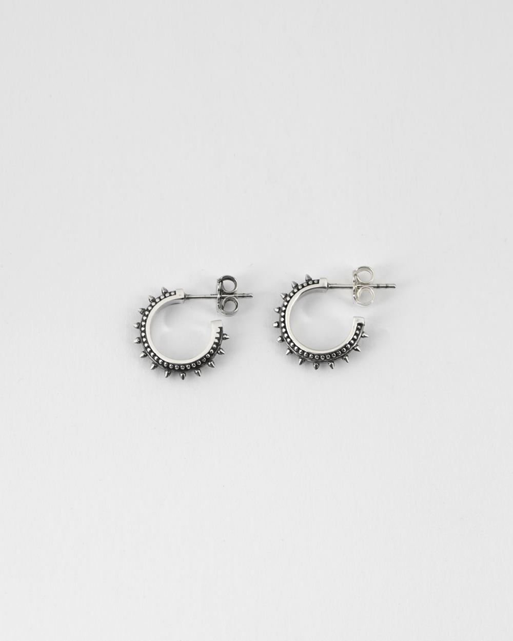 ethnic small hoop pair earrings