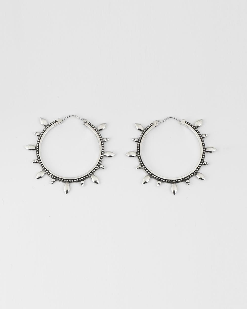 ethnic big hoop pair earrings