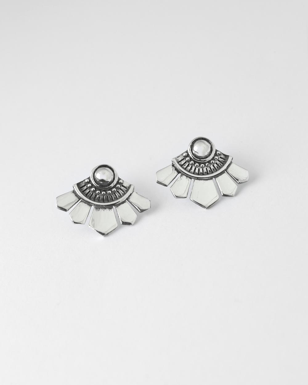 folding fan ethnic pair earrings
