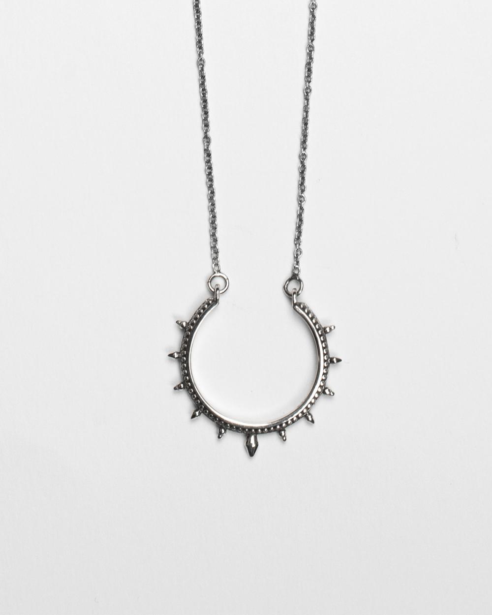 ethnic hoop necklace