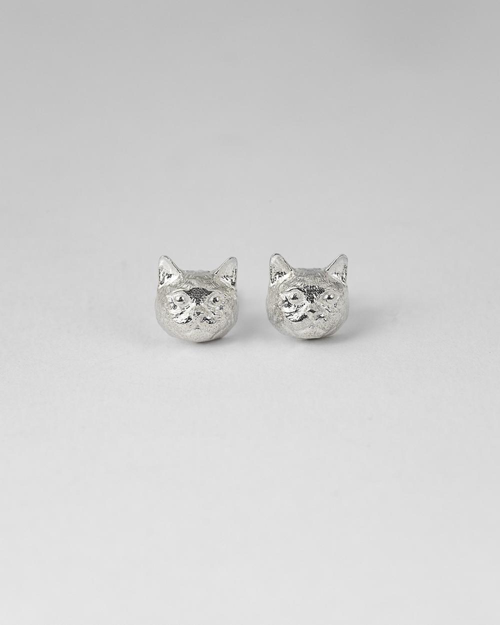 british haircut couple earrings polished finish