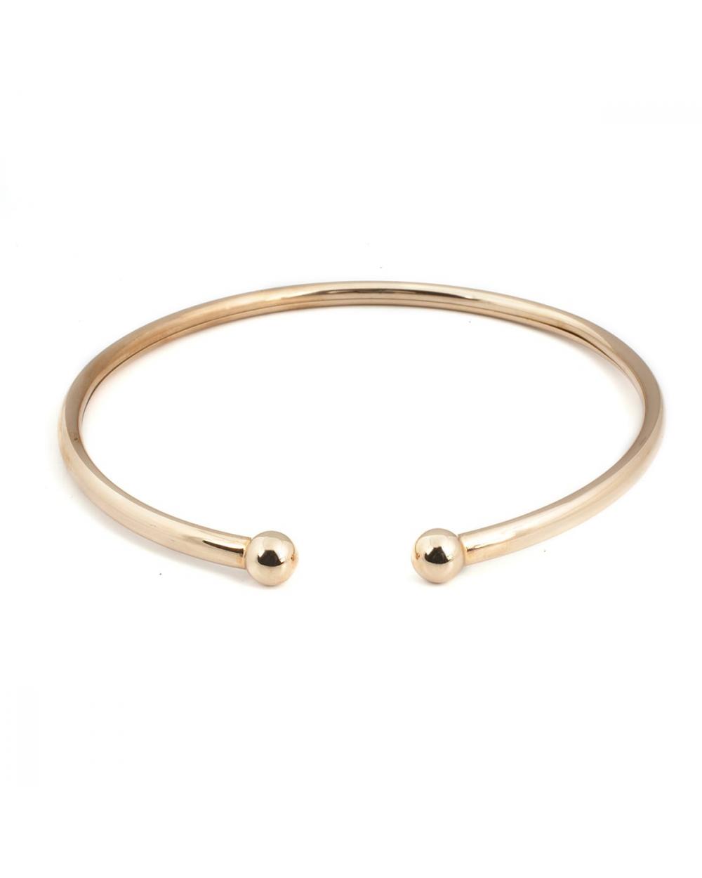collana piercing grande sfere oro rosa