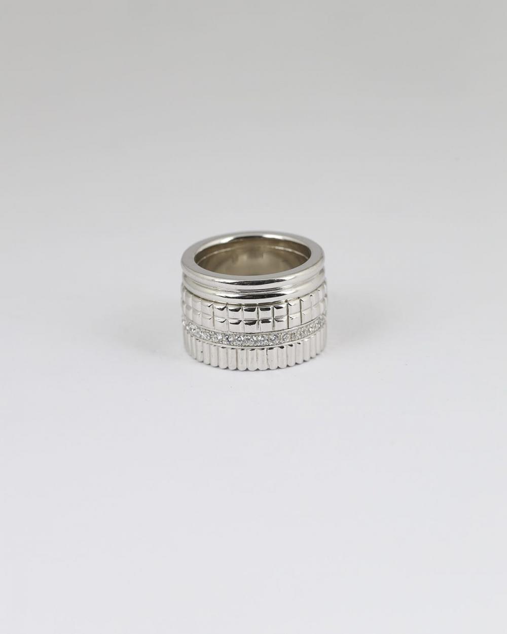 fascia decorata con brillanti argento