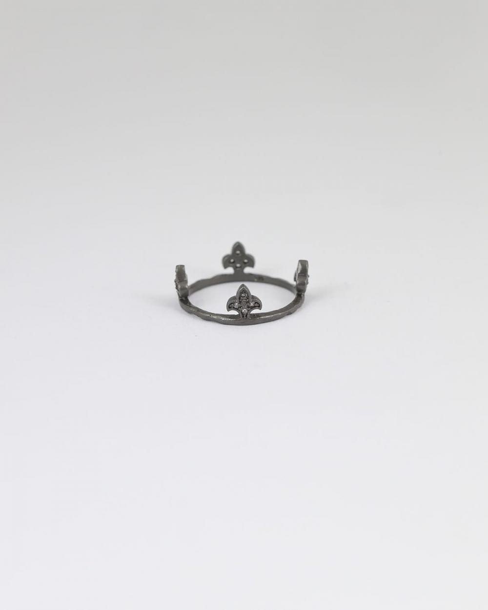 anello corona 4 punte rutenio