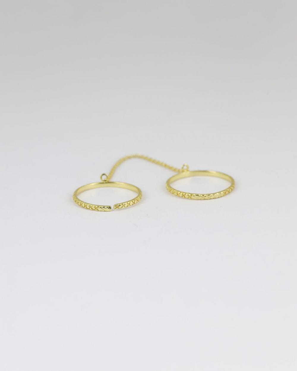 fedine decorate con catena oro giallo