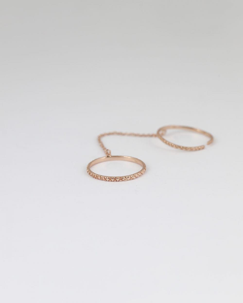 fedine decorate con catena oro rosa