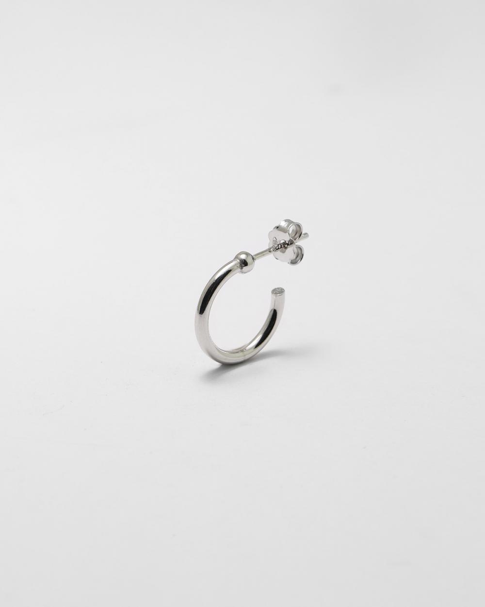 silver small alpha single earring