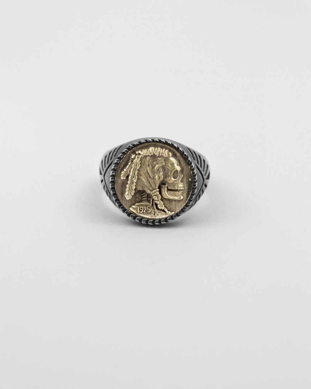 chevalier moneta teschio bronzo