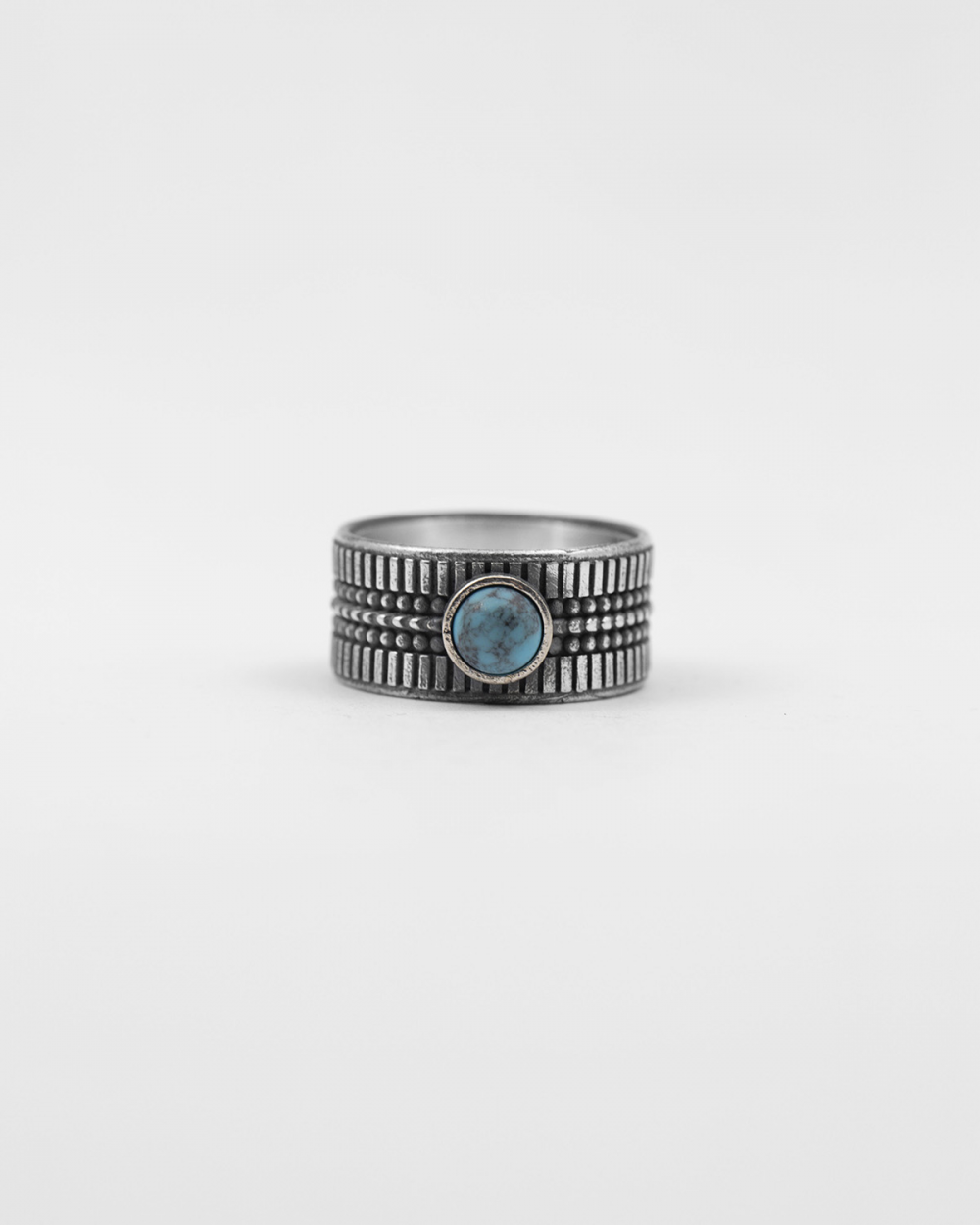 native turquoise band ring