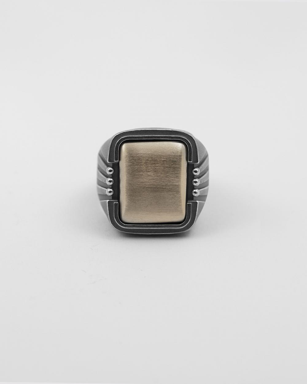 native rays broze signet ring