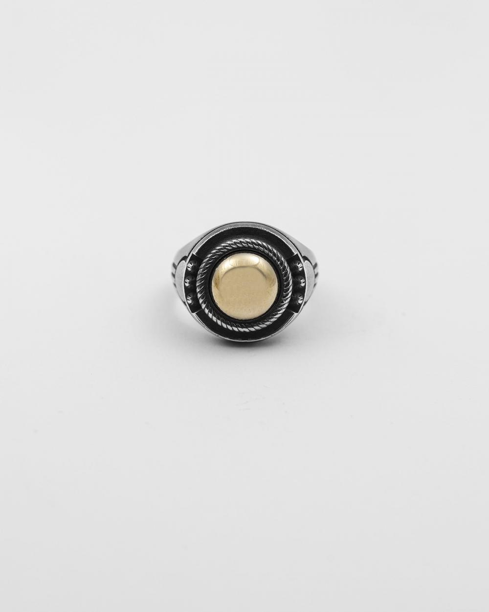 bronze hieroglyphics signet ring