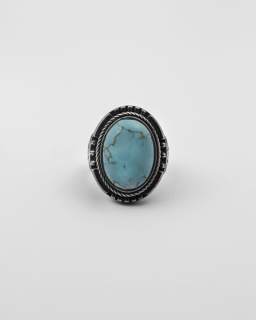 howlite lotus signet ring