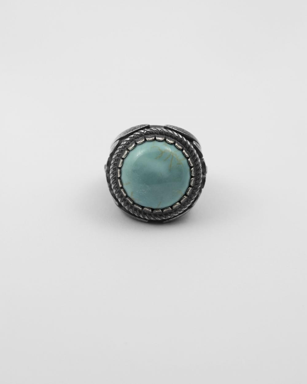 howlite ionic signet ring