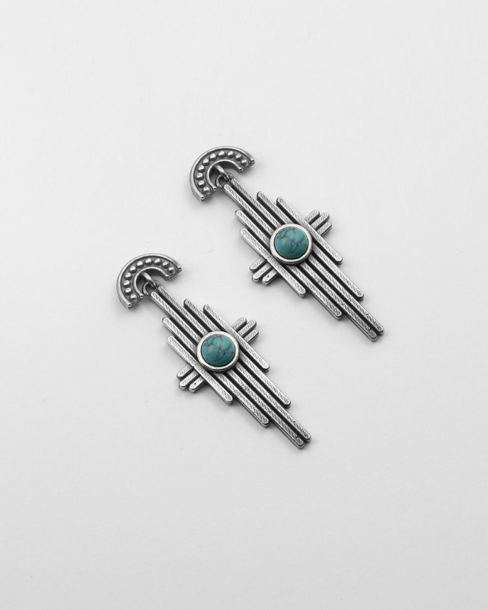 rays turquoise pair earrings